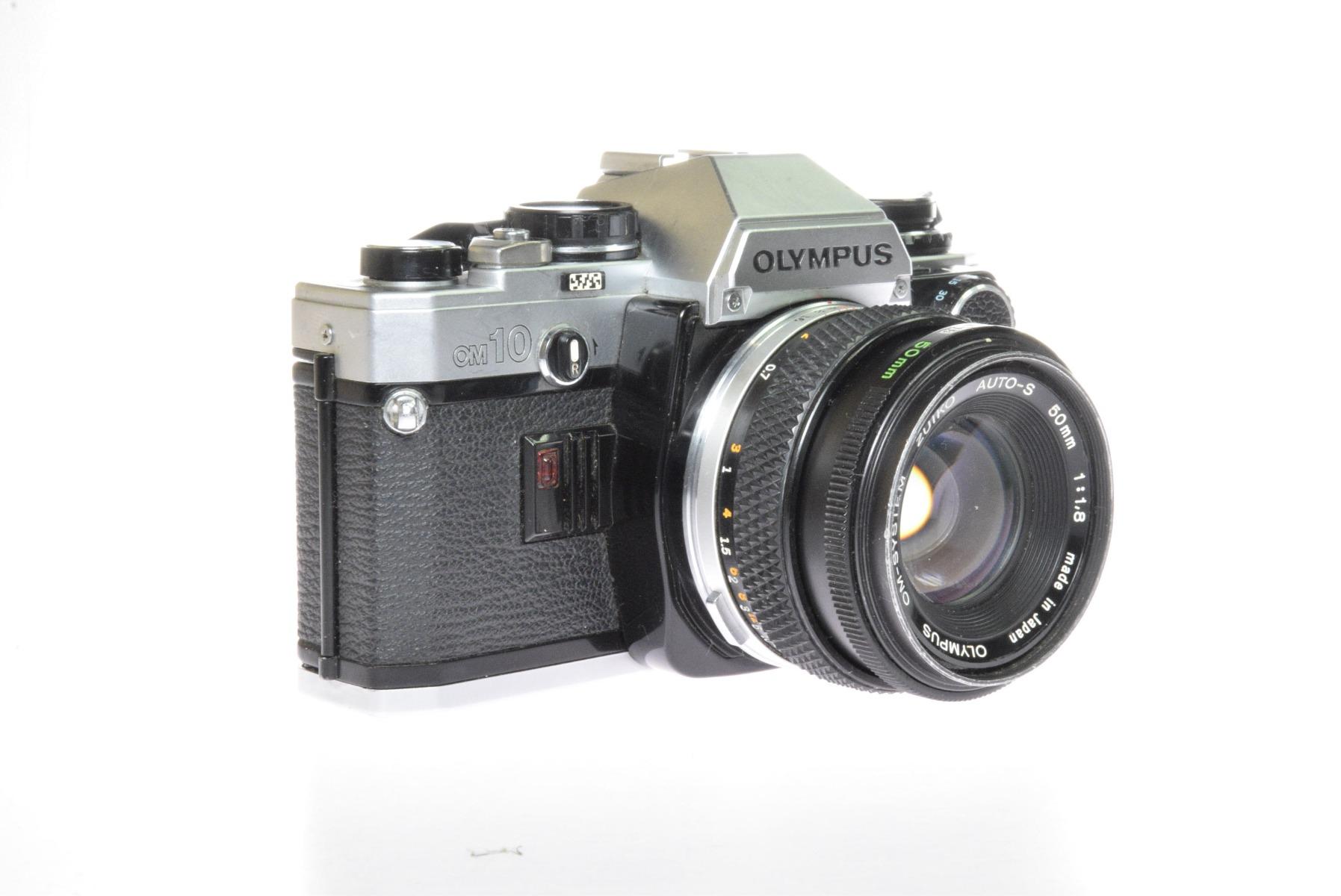 Used Olympus OM10 35mm Film SLR Camera & 50mm F1.8 Lens