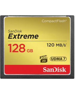 SanDisk 128GB 120MBs UDMA 7 Extreme Compact Flash Memory Card