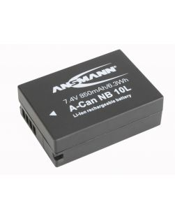 Ansmann Canon NB-10L Digital Camera Battery for SX40, SX50, SX60, G15, G16, G3 X, G1 X.