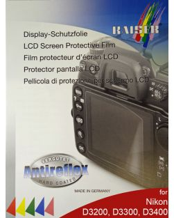 Kaiser LCD Protective Film for Nikon D3200, D3300 & D3400