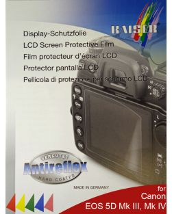 Kaiser LCD Protective Film for Canon EOS 5D Mark III, 5D Mark IV, 5DS & 5DS R