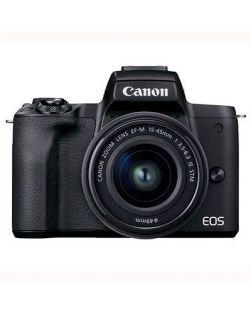 Canon EOS M50 Mark II Mirrorless Camera & 15-45mm EF-M Lens (Black)