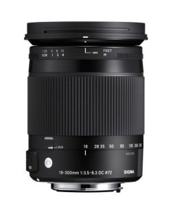 Sigma 18-300mm f3.5-6.3 DC MACRO OS HSM CONTEMPORARY Lens (Canon EFs Fit)