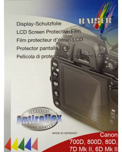 Kaiser LCD Protective Film for Canon EOS 700D, 750D, 760D, 800D, 77D, 80D, 7D Mark II  & 6D Mark II