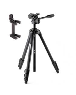 Velbon M45 TRIPOD Including 3-way Photo Head and GoPro/Smartphone Adapter