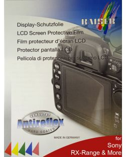 Kaiser LCD Protective Film for Selected Sony RX-Series & A7-Series