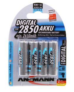 Ansmann AA NiMh 2850mAh x4 Batteries