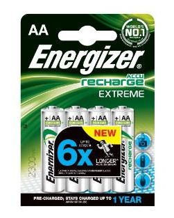Energizer ACCU AA NiMH 2300mAh Batteries (Pack Of Four)