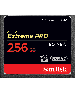 SanDisk 256GB 160MBs UDMA 7 Extreme Pro Compact Flash Memory Card