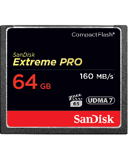 SanDisk 64GB 160MBs UDMA 7 Compact Flash Extreme Pro Memory Card