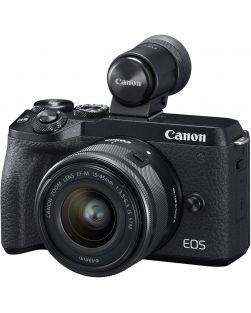 Canon EOS M6 Mark II Mirrorless Camera, 15-45mm IS STM Lens, EVF-DC2 Kit