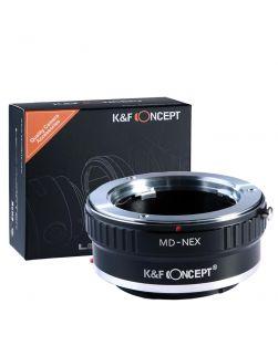 K&F Mount Adapter: Minolta MD/MC Lens to Sony E-Series Body (Copper Finish)