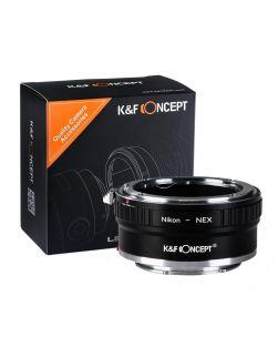 K&F Mount Adapter: Nikon FX/DX Lens to Sony E-Series Body (Copper Finish)