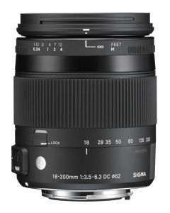 Sigma 18-200mm f3.5-6.3 DC MACRO OS HSM Contemporary Lens (Canon EFs Fit)
