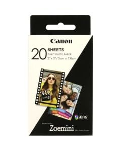 """Canon ZINK 2x3"""" Photo Paper (Pack Of 20 Sheets)"""