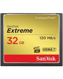 SanDisk 32GB 120MBs UDMA 7 Extreme Compact Flash Memory Card