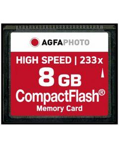 AgfaPhoto 8GB 233x Compact Flash Memory Card