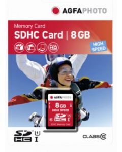 AgfaPhoto 8GB SDHC Class 10 Memory Card