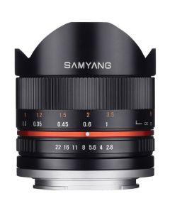 Samyang 8mm f2.8 UMC MF Fisheye II Lens for Fujifilm X (Black)