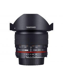 Samyang 8mm f3.5 Asph IF MC Fisheye CS II Lens (Nikon FX/AE)