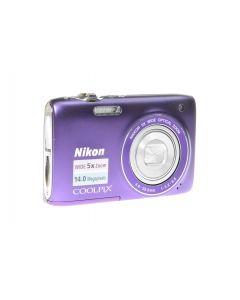 Used Nikon Coolpix S3100 Digital Compact Camera