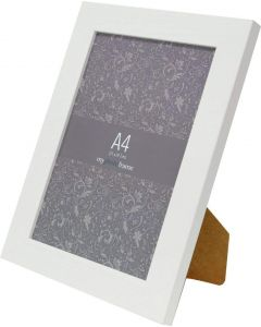 Avoset White Wood Picture Frame (A4)