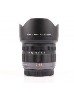 Used Panasonic 7-14mm f4 LUMIX G VARIO ASPH. Lens