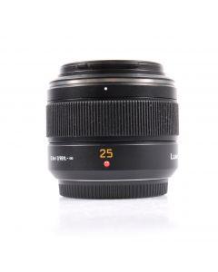 Used Panasonic 25mm F1.4 DG Leica Summilux Asph. Prime Lens