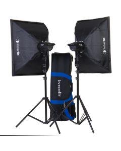 Interfit F121 2x 200w Heads Softbox & Bag Studio Flash Kit