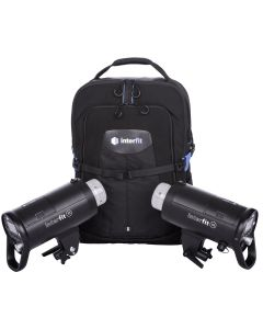 Interfit S1 Flash On-Location Portable 2-Light Backpack Kit
