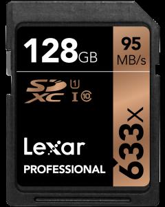 Lexar 128GB 633x UHS-I SDXC Memory Card