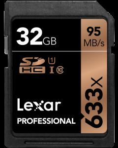 Lexar 32GB 633x UHS-I SDHC Memory Card