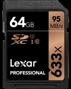 Lexar 64GB 633x UHS-I SDXC Memory Card