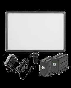 Nanlite Lumipad 25 LED Light Panel & 2 NGBM1 AA Battery Packs