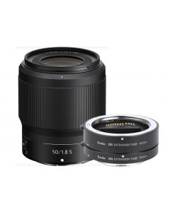 Nikon 50mm f1.8 S Nikkor Z Lens & Kenko Macro Extension Tube Set
