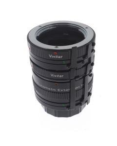 Used Vivitar Extension Tube Set (Minolta MD)