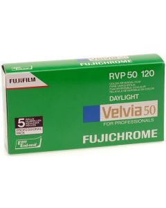 Fujifilm Velvia RVP 50 120 Format Film (Pack of 5)