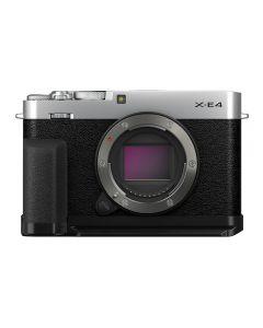 Fujifilm X-E4 Mirrorless Camera Body, Thumb Rest & Hand Grip (Silver)