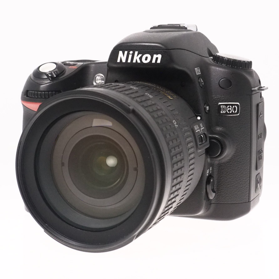 Used Nikon D80 DSLR Camera & 18-70mm f3.5-4.5 Zoom Lens