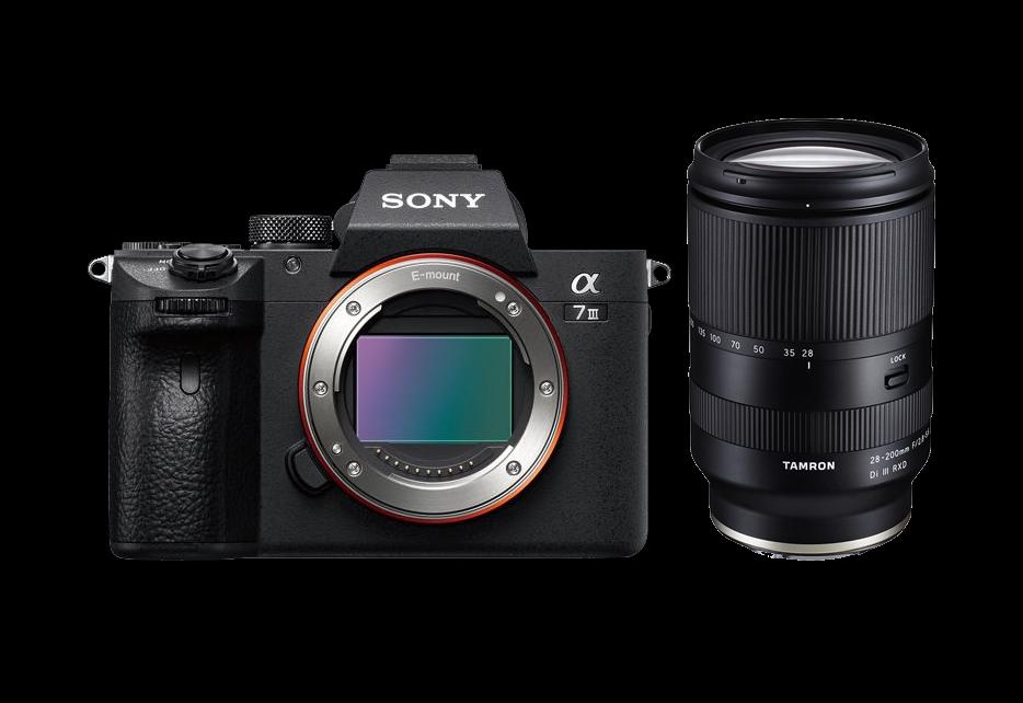 Sony A7 III Mirrorless Camera Body, Tamron 28-200mm f2.8-5.6 Di III RXD Exclusive Kit