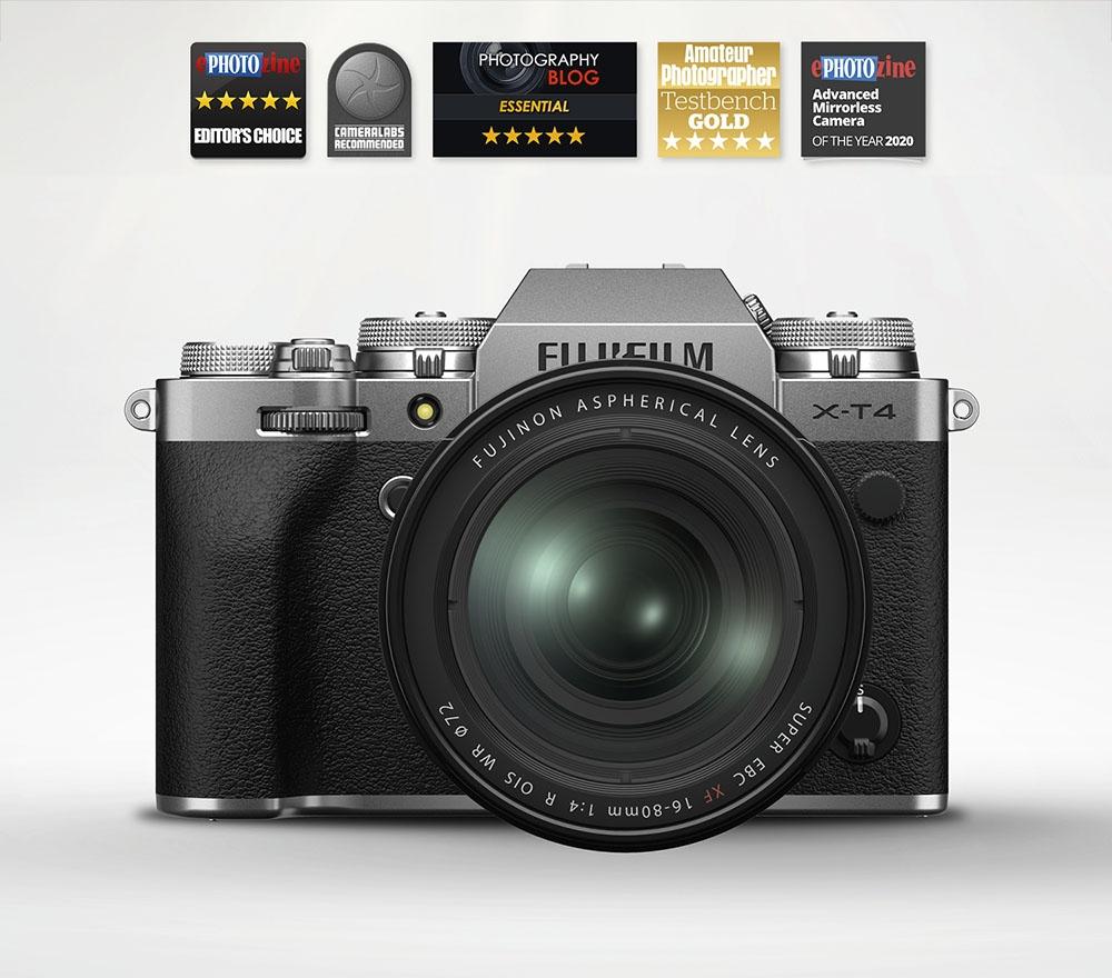 Fujifilm X-T4 Mirrorless Camera & 16-80mm OIS Lens (Silver)