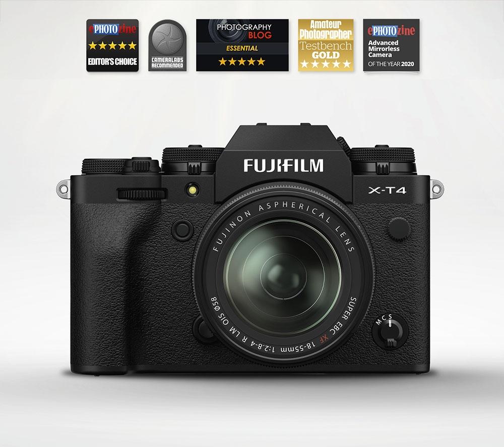 Fujifilm X-T4 Mirrorless Camera & 18-55mm OIS XF Lens (Black)