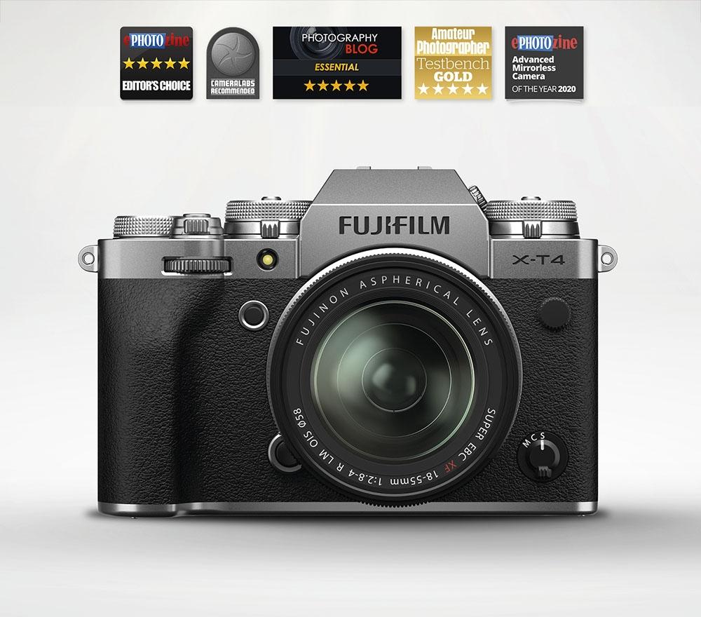 Fujifilm X-T4 Mirrorless Camera & 18-55mm OIS XF Lens (Silver)