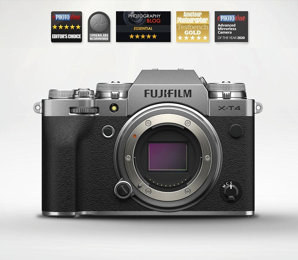 Fujifilm X-T4 Mirrorless Camera Body (Silver)