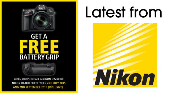 Free Battery Grip on D610 & D7200 as well as 3 New Lens Announcements