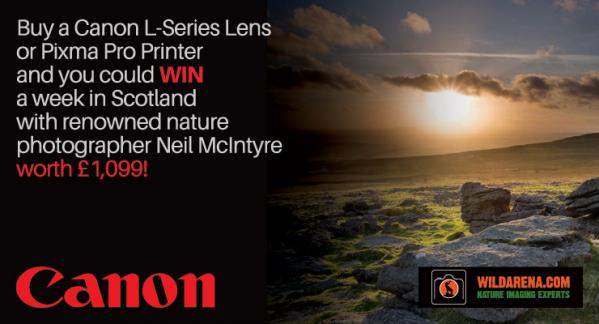 Buy a Canon Lens or Printer and Win a week in Scotland