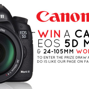 We're giving a Canon EOS 5D MkIII away on Facebook!
