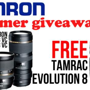 FREE Tamrac Evolution 8 with Tamron lenses